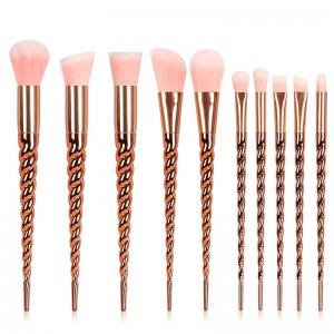 10pcs Hair Unicorn Cosmetic Make Up Brushes Set-JC14003-3