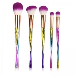 5pcs Hair Unicorn Cosmetic Make Up Brushes Set-JC14003-6