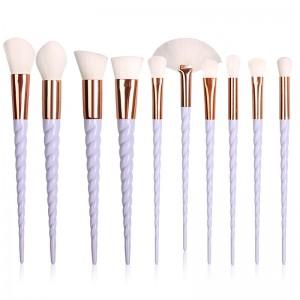 10pcs  Hair Unicorn Cosmetic Make Up Brushes Set-JC14004-1