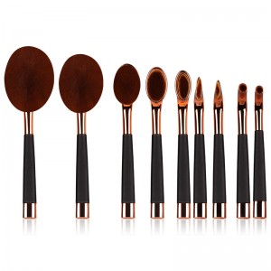9pcs tooth brush style cosmetic brushes-JC14007-1