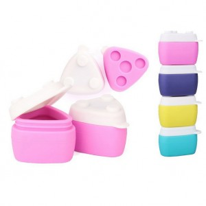 Makeup cream jar portable type Silicone travel packing jar-JC71001