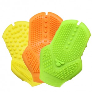 Double-sided silicone massage bath gloves-JC73001-1